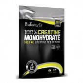 100% Creatine Monohydrate Bag Biotech USA 500 грамм